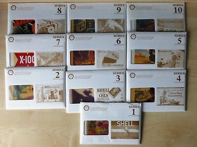 Shell series Shell poster art all ten unused sets, 100 in all complete set