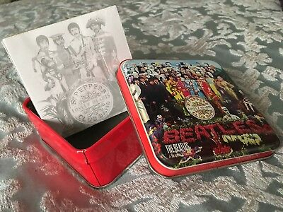 The Beatles Sgt Pepper's Lonely Heart Band Small Note Jotter Tin