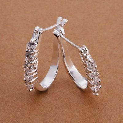 Fashion Jewellery Xmas Gift fine Solid 925 Sterling Silver Charm Earrings