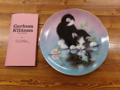 Hamilton Collection Bob Harrison Curious Kittens Plate Rainy Day Friends