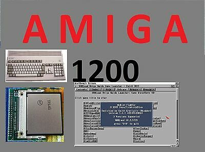 Commodore Amiga 1200 4 Gb Compact Flash Kit Adapter Cf + Workbench + Whdload