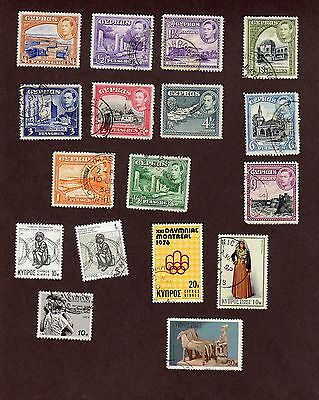 Cyprus stamps, 17 different, total =84 stamps  (L981)