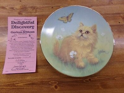 Hamilton Collection Bob Harrison Curious Kittens Plate Delightful Discovery