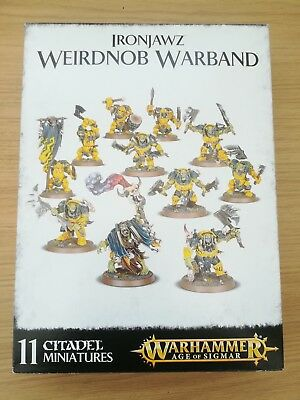 Games Workshop Warhammer Ironjawz Weirdnob Warband 70% Complete In Box