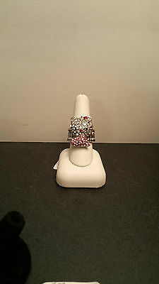 Hello Kitty STRETCH RING  SPARKLE, pink dress
