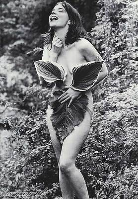 """MUSIC POSTER~Bjork Nude """"Nymph in Forest"""" 22x32 1990's Sugarcubes NOS Vintage BW"""