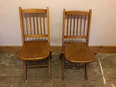 Victorian Folding Chairs Vintage