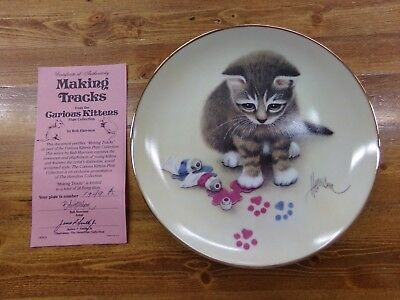 Hamilton Collection Bob Harrison Curious Kittens Collector Plate Making Tracks