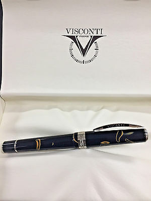 Visconti Manhattan Magma Fountain Pen 23kt Fine Nib Retail $595