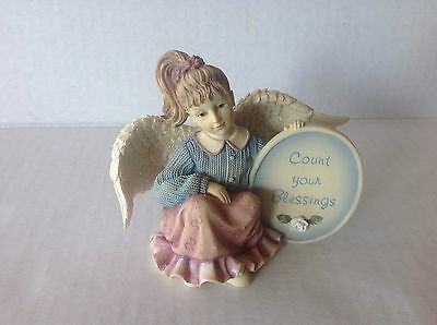 "Angels among us ""Messenger Angel-Blessings "" Betty Singer Figurine"