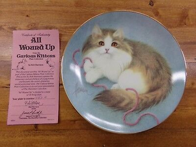 Hamilton Collection Bob Harrison Curious Kittens Collector Plate All Wound Up