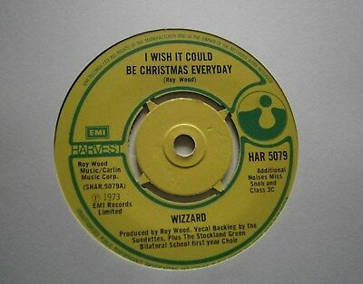 "WIZZARD: I Wish It Could Be Christmas (Harvest)  1973 7"" single"