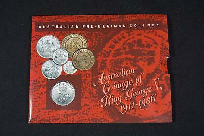 1911-1936 Australian Coinage Of King George V (6) Coin Pre-Decimal Set