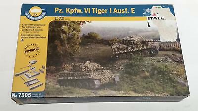 Italeri 7505 German PzKpfw VI Tiger I Ausf. E 2x Fast Assembly Wehrmacht Panzer