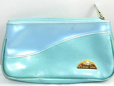 Christian Dior Light Blue Perfume Travel Cosmetic Bag Pouche Sz 4 X 7.5 X 1.5  ""