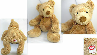 """Ty Pluffies Soft Baby Plush Gold Brown  Tylux 9"""" Tall Sitting"""
