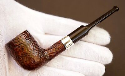 Very Clean Dunhill Shell Billiard Nose Warmer Pipe 39 1975 (15) Sterling Band