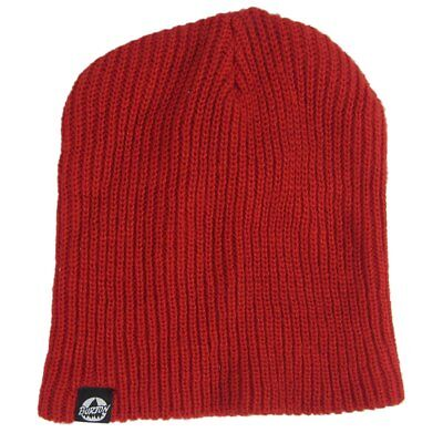 48525915296 NWT Burton Fang All Day Long Red Knitted Beanie Cap Hat One Size