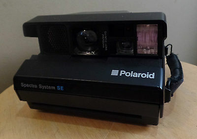 Vintage POLAROID Folding Se SPECTRA System Instant CAMERA with SIDE Hand STRAP