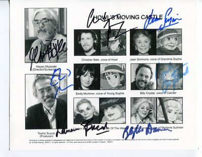 7 HOLLYWOOD SIGNATURES autograph HAND SIGNED 5558