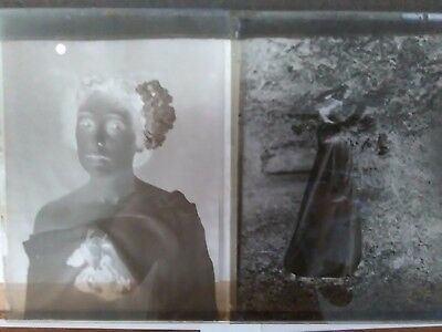 12 Glass Plates/Negatives. Women Early 1900s? Job Lot.