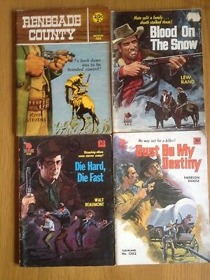 Western Cowboy (Pulp) Books Job Lot 4 Number See Photos For Details & Authors