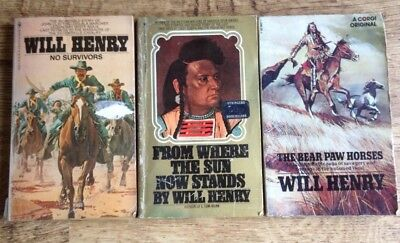 Will Henry western book Collection paperbacks 3 In Total See Photos