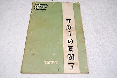 Vintage Triumph motorcycle owners Manual Trident  1974