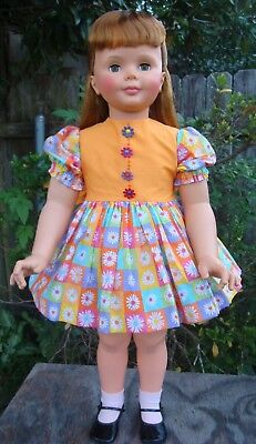 """Dress and slip puffy for Patti Playpal doll or 35"""" - 36"""" doll"""