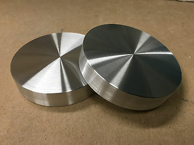 "Aluminum Round Disc 3"" Dia. Bar Circle Plate (2 Pcs) 3/4"" Thick,flat! *nice! Usa"