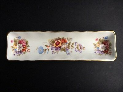 """Aynsley """"Summertime"""" Mint / Olive / Trinket Tray Dish: 8¼"""" Long x 2¼"""" Wide"""