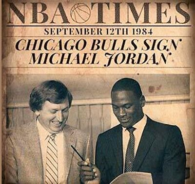 """art Photo: The Day Michael Jordan Signed With The Chicago Bulls"" 8 X 10 Glossy"