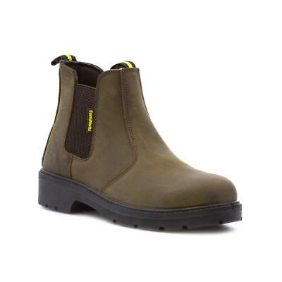 Earth Works Safety - EarthWorks Mens Brown Chelsea Safety Boot