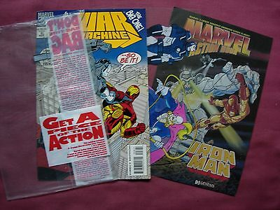 War Machine #8 Action Hour pack with acetate 1994 Marvel USA VFN+
