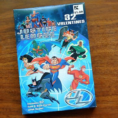 Valentines Justice League Unlimited 32 Cards MIB