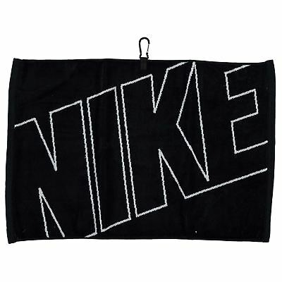 Nike Towel Jacquard Velour Black 41cm x 61cm Small Golf Gym Brand New With Tags