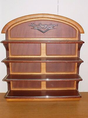 Franklin Mint Classic Cars Of The Fifties Wooden Display Wall Hanging Shelf