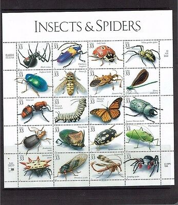 United States: 1999, Insects & Spiders, Sheetlet