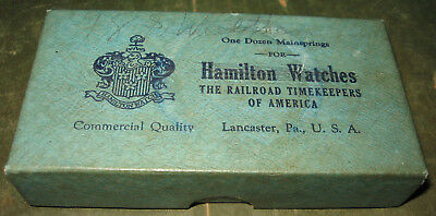 Vintage Hamilton Watches The RailRoad TimeKeepers of America MainSpring Box