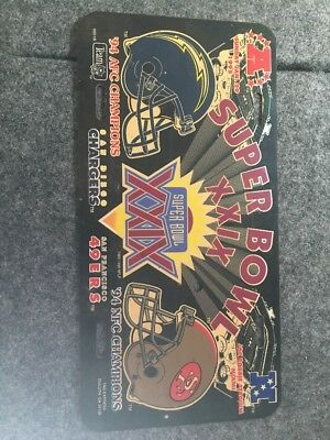 Chargers Vs 49ers Superbowl XXIX License Plate