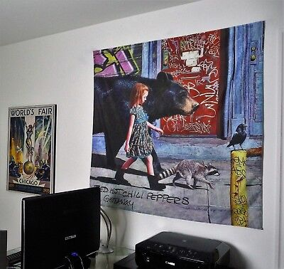 RED HOT CHILI PEPPERS The Getaway HUGE 4X4 BANNER poster tapestry album