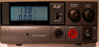 NEW QJE PS30SWIV 30 Amp Switching Power Supply with Digital Volt/Amp Meter
