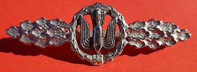 "GERMAN Badge Front wing brace for battle and fall tanker ""Silver"" Denazified"