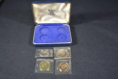 1966 Republic Of Tanzania (4) Coin Proof Set Only 5,500 Minted!