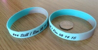 Lewis Hamilton Still I Rise F1 Champion Rubber Wristbands In Mercedes Colours x2