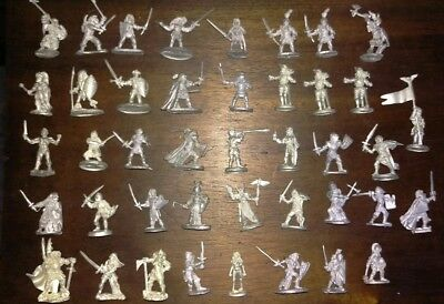Ral Partha Knights Fighters Warriors Heroes Adventurers 42 Figure Lot