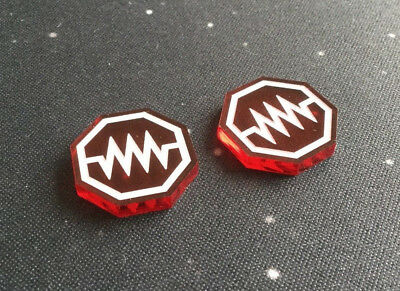 X-Wing Miniatures compatible, acrylic Jam tokens x 2