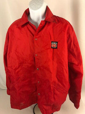 Vintage PHILLIPS 66 Red Snap Jacket with lining - X Large