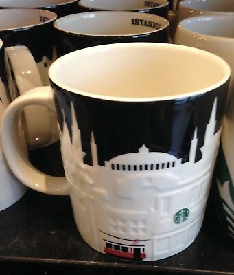 Starbucks ISTANBUL Mug Mosque Tramway Relief City Series  Authentic TURKEY new