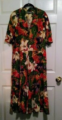 Womens Plus (22w) Floral Dress by Carol Anderson II of California